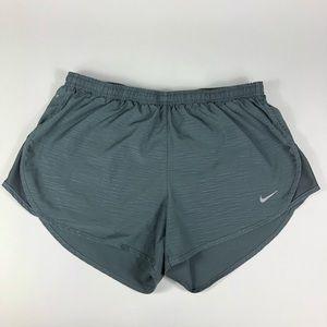 Women's Nike Dri Fit Running Shorts Gray Sz M